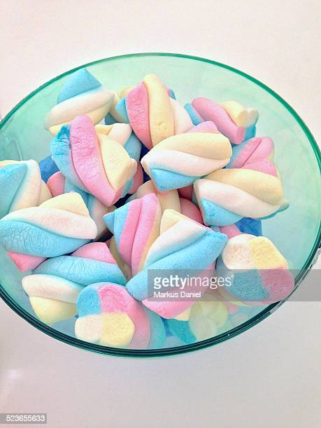 """colorful foamed candy in a bowl - """"markus daniel"""" stock pictures, royalty-free photos & images"""