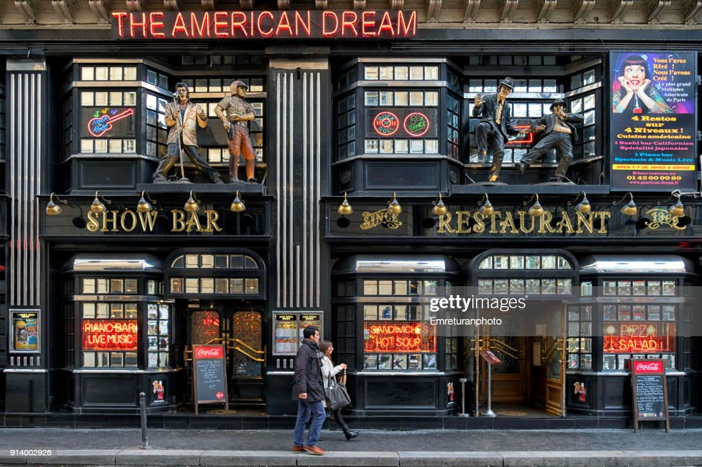 Colorful Food And Drink Establishment Building Exterior Design Paris High Res Stock Photo Getty Images