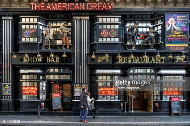 colorful food and drink establishment building exterior design ,paris. - emreturanphoto stock pictures, royalty-free photos & images