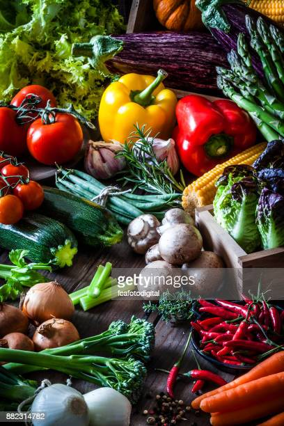 colorful fresh organic vegetables - vertical stock pictures, royalty-free photos & images