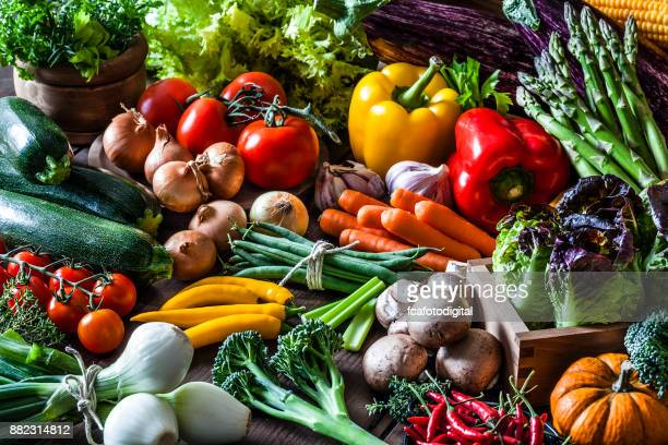 Colorful fresh organic vegetables