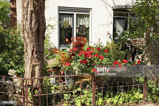 Colorful front yard in Delft Holland