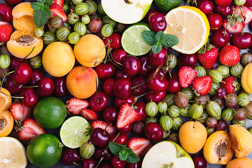 Colorful fruit background - gettyimageskorea