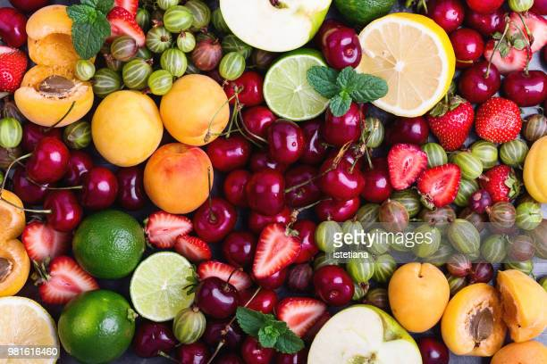 colorful fruit background - fruit stock pictures, royalty-free photos & images