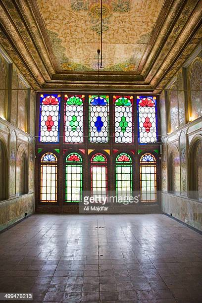 CONTENT] Colorful glass work on wooden windows inside the Garden's building Qavam House is a traditional and historical house in Shiraz Iran It is at...