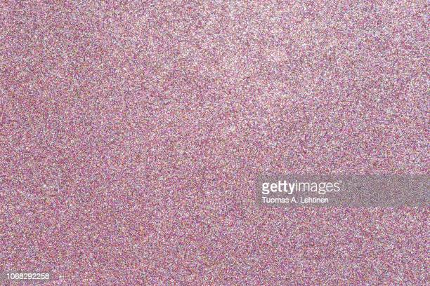 colorful glitter full frame textured shiny abstract background. - pink imagens e fotografias de stock