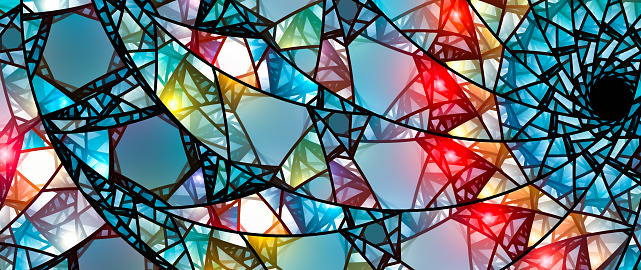Colorful glowing stained glass 829509600