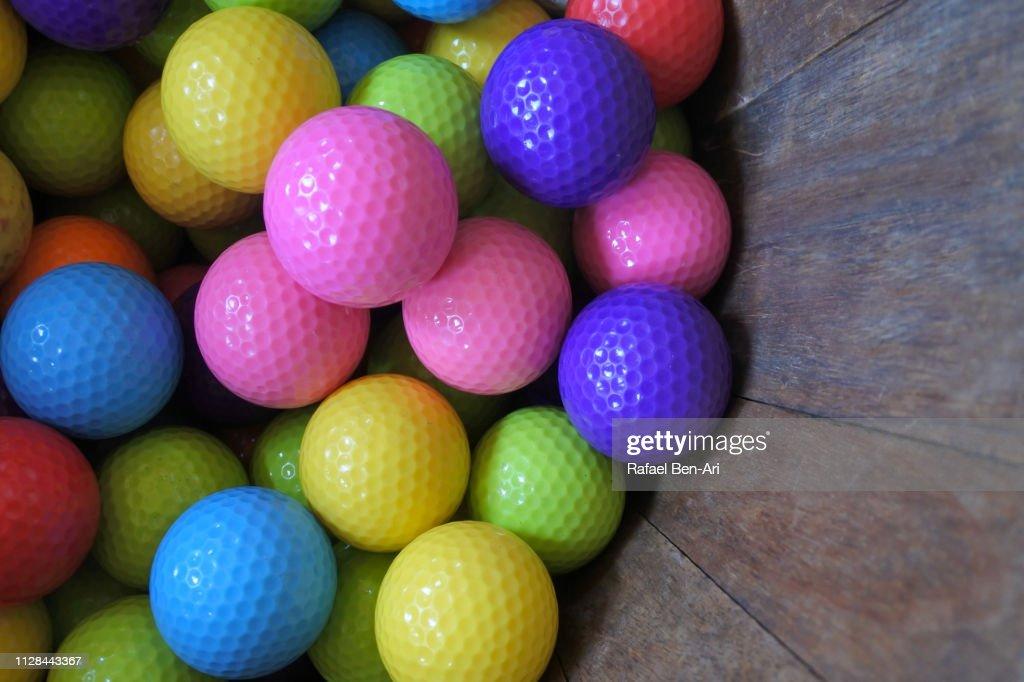 Colorful Golf Balls : Stock Photo