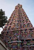 Colorful Gopuram, Sarangapani Temple, Kumbakonam, Tamil Nadu, India
