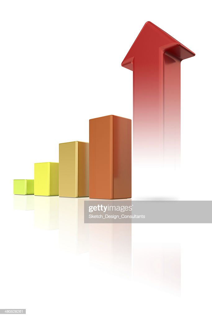 Colorful Growth Chart : Stock Photo