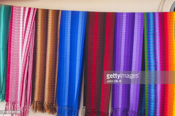 colorful guatemalan textiles - central america stock pictures, royalty-free photos & images