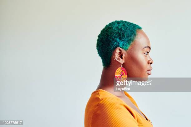 colorful hair, don't care - green hair stock pictures, royalty-free photos & images