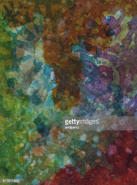 Colorful hand painted background with multiple textures
