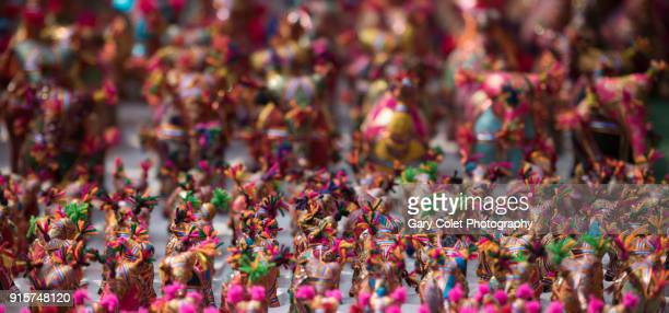 colorful handmade toys in delhi market - gary colet stock pictures, royalty-free photos & images