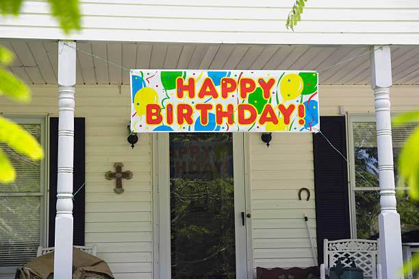 happy birthday banner pictures getty images