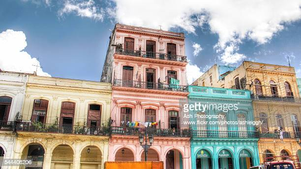 colorful havana hdr, cuba - old havana stock pictures, royalty-free photos & images