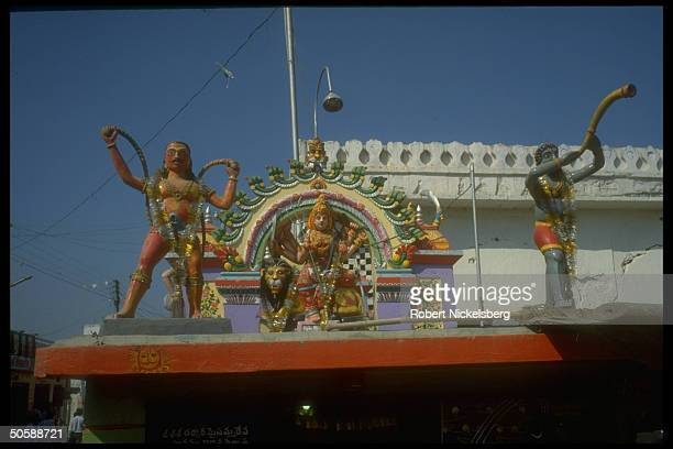 Colorful Hindu godking Rama images in Hyderabad Andhra Pradesh India