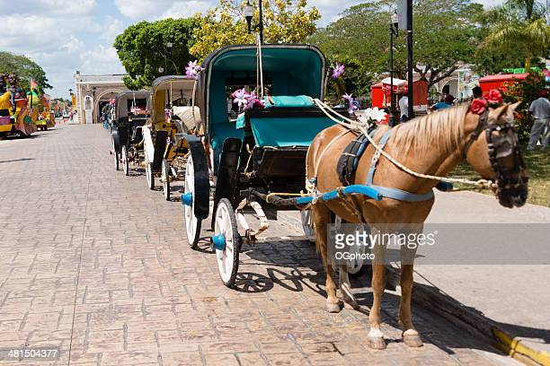 colorful horsedrawn carriages, -xxxl - ogphoto stock pictures, royalty-free photos & images