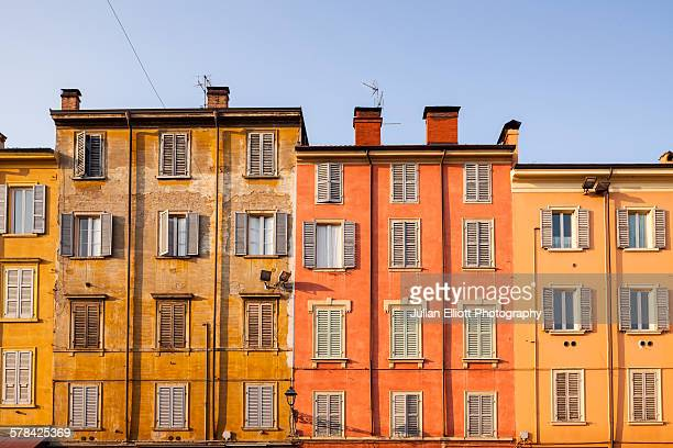 Colorful house facades in Piazza XX Settembre