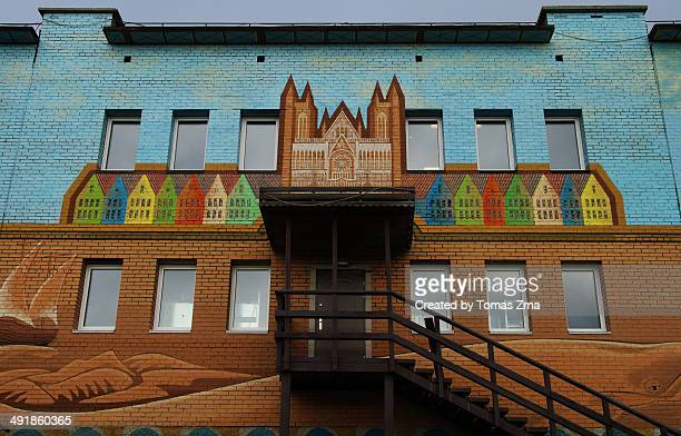 Colorful house in Barentsburg