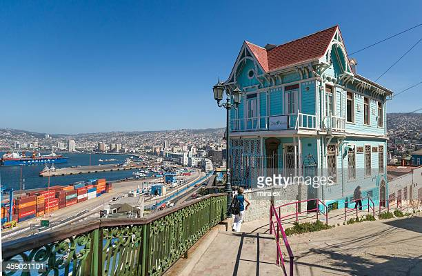 Colorful House, Port and City View, Valparaiso, Chile