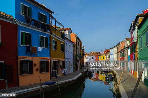 Colorful Houses By Canal