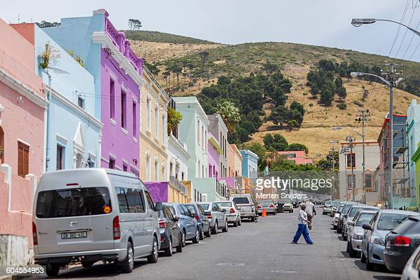 Colorful houses in Bo-Kaap Dorp street