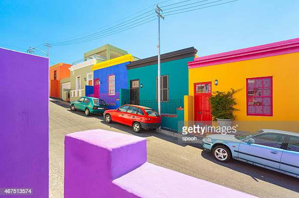 Colorful houses in Bo-Kaap - Malay Quarter in South Africa.