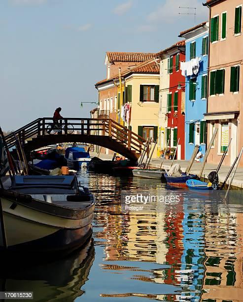 Case colorate di Burano, Italia