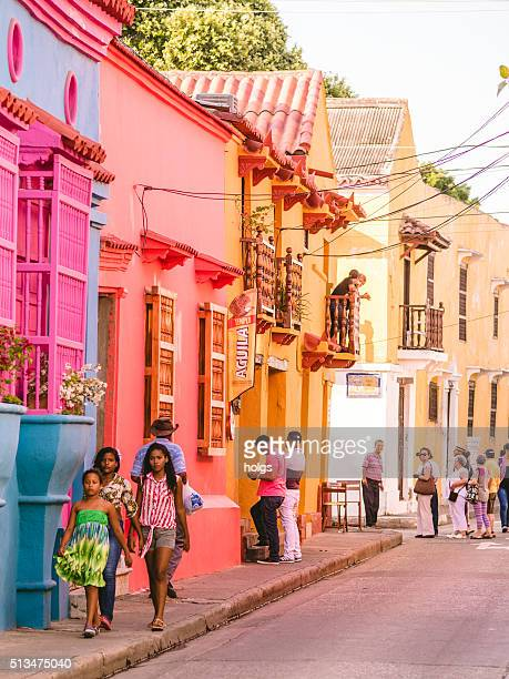 Colorful houses in Cartagena, Colombia