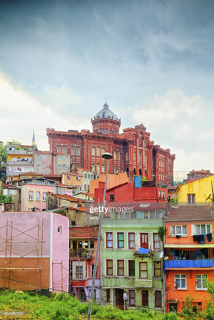 Colorful Houses in Istanbul, Turkey : Stock Photo