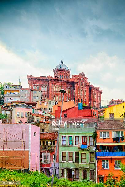 Colorful Houses in Istanbul, Turkey