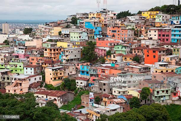 colorful houses in las penas district - guayaquil fotografías e imágenes de stock