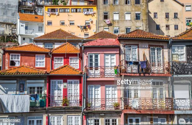 Colorful houses in Oporto