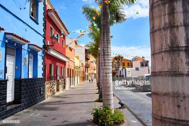 Bunte Häuser in Puerto De La Crus