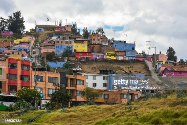 colorful houses in south america - cundinamarca stock pictures, royalty-free photos & images