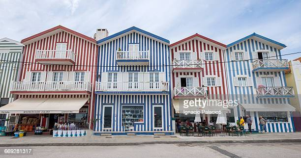 Colorful houses in the fishing town of Aveiro