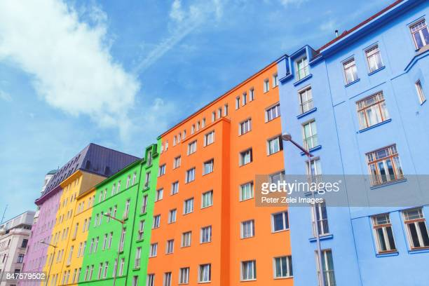 Colorful houses in Vienna, Austria