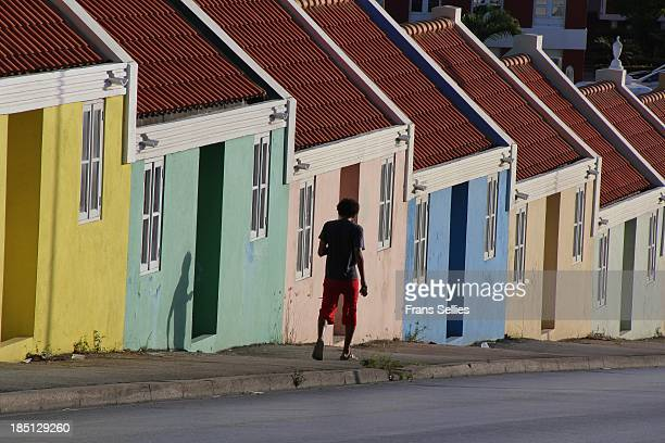 Colorful houses in Willemstad, Curaçao.