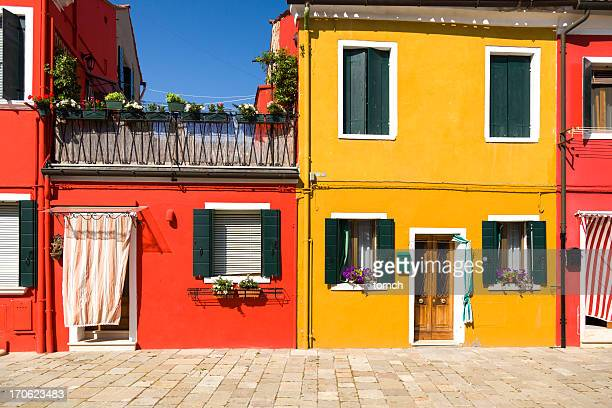 Colorful houses on the island of Burano, Italy