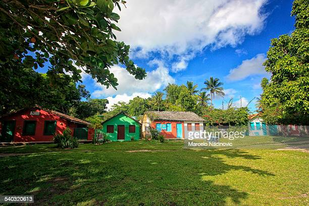 Colorful houses on Trancoso