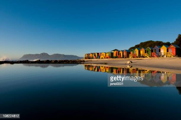colorful houses seaside landscape - south africa stock pictures, royalty-free photos & images