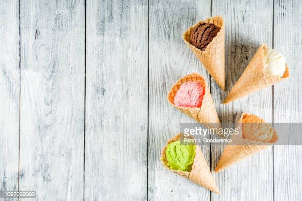 colorful ice cream waffle ice cream