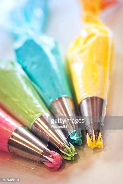 Colorful icing bags