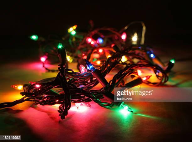 Colorful Illuminated Christmas Lights