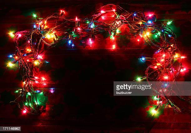 カラフルな照明付きクリスマスライトコロナ - buzbuzzer ストックフォトと画像