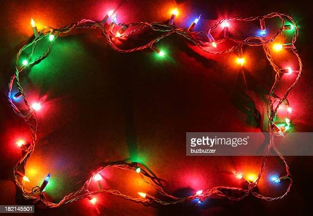 Colorful Illuminated Xmas Lights Frame