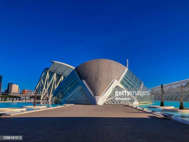 Colorful image of the City of Arts and Sciences complex in Valencia