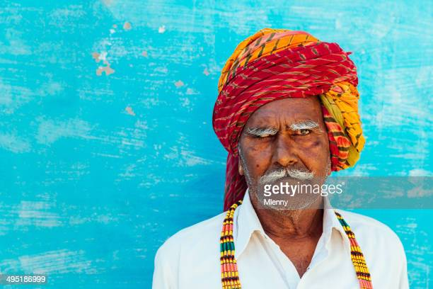 Colorful India Senior Man Real People Portrait