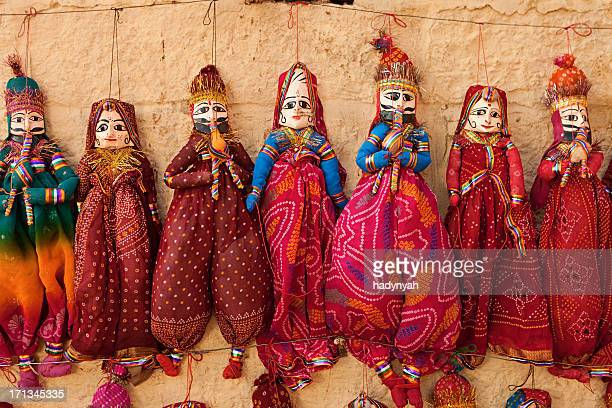 Colorful Indian puppets for sale